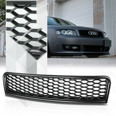 Matte Black ABS Honeycomb Mesh Front Bumper Grille/Grill for 02-05 Audi A4/S4 B6