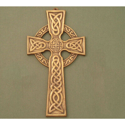 """Wall Cross Celtic Knot center Antique Brass Small Celtic  Measures 5.5"""" x 3"""" ()"""