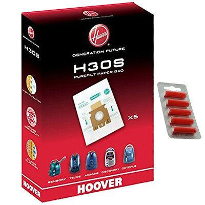 5 x HOOVER H30S Purefilt Bags for Telios Vacuum Genuine H30 Super + Fresh