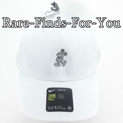 Disney Parks Nike Dri Fit Mickey Mouse White Grey Golf Baseball Cap Hat NEW/TAGS (Mickey Mouse Hat)