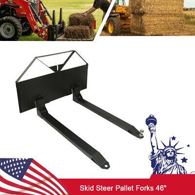 Skid Steer Loader Tractor Pallet Forks 46 Tractor Forks Quick Tach Attachment