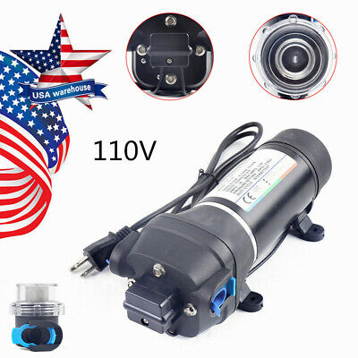 110v Self-priming Diaphragm Pump 40psi Pressure Water Pump Caravanboatrv Fl-41