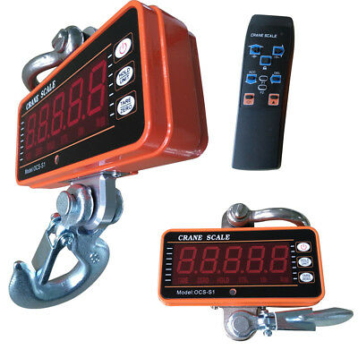 Industrial Digital Crane Scale 1t2000lbs 1000kg Hanging Scale Heavy-duty Usa