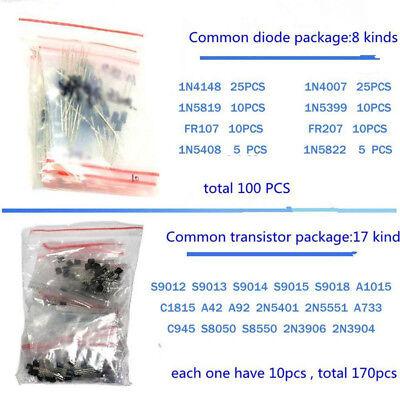 1390pcsset Electronic Components Kit Basic Electronics Transistors Assortment