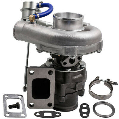 T3/T4 T04E V-BAND Turbocharger Turbo .63 A/R .5A/R Internal Wastegate Universal Toyota Celica Turbo