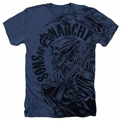Sons Of Anarchy Reaper Skulls Officially Licensed Sublimated Adult Shirt S Xxl