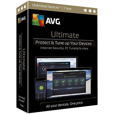Nib  Avg Ultimate 2017   Unlimited Devices   1 Year   Free Upgrade To 2018