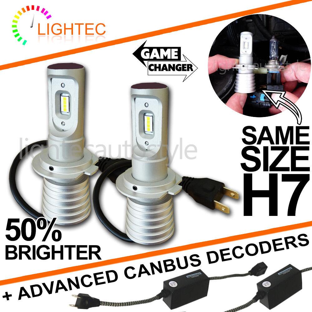 H7 SUPER SLIM LED CONVERSION CAR HEADLIGHT BULBS KIT 5700K XENON WHITE V10 NEW