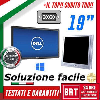 """PC MONITOR SCHERMO LCD 19"""" POLLICI (DELL,HP,LG) VGA DVI DISPLAY DESKTOP 20 21 18"""