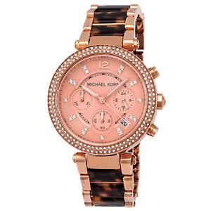 6fa15c8aee20 Michael Kors Parker Tortoise   Rose MK5538 Wrist Watch for Women for ...