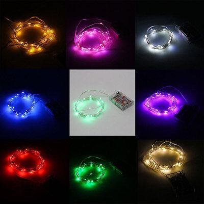 LED Starry Fairy String Lights 3M 10ft 30LEDs Battery Powered White Blue Purple - Led White String Lights