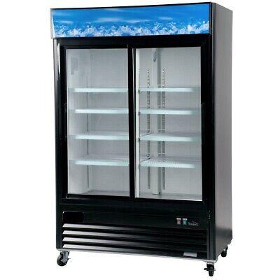 A.c.e. Commercial Display Refrigerator 45 Cu.ft. Double Sliding Glass Door