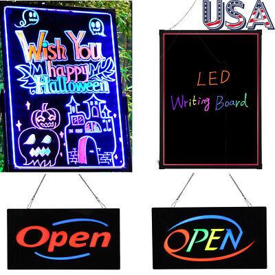 Flashing Illuminated Erasable Neon Led Message Menu Writing Sign Board Wremote
