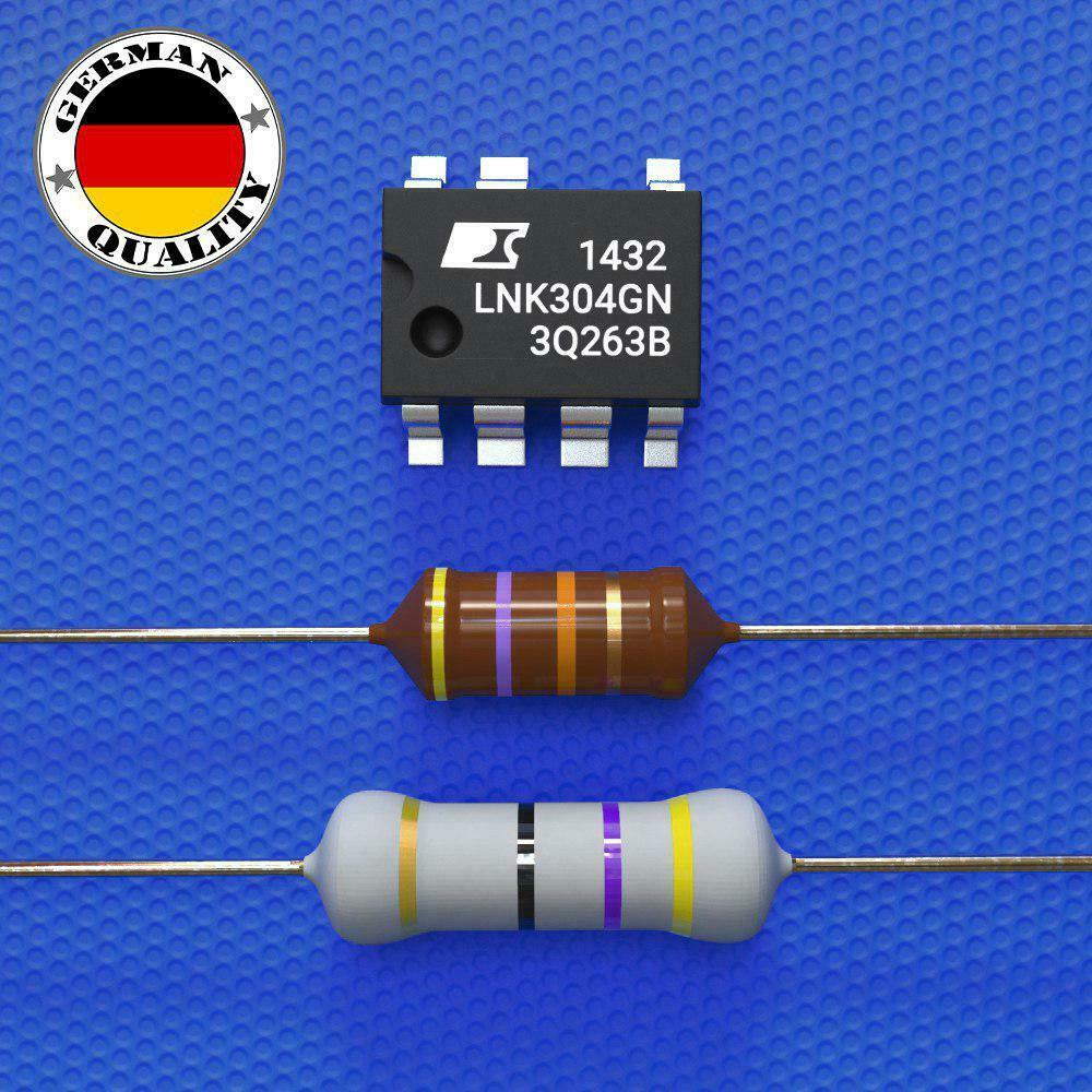 LNK304GN AEG Reparaturset Widerstand 33 Ohm 3W +Drossel Whirlpool Bauknecht