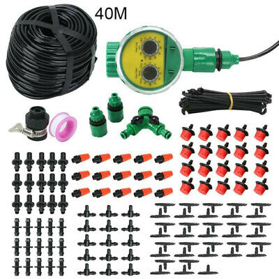 40M DIY Micro Drip Irrigation System Plant Self Watering Garden Hose Kit