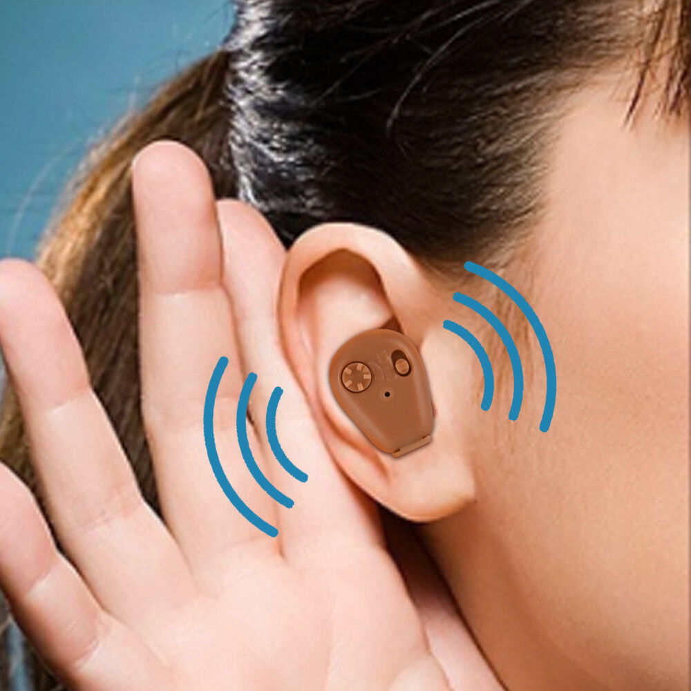 Rechargeable Mini Hearing Aids Sound Voice Amplifier In The