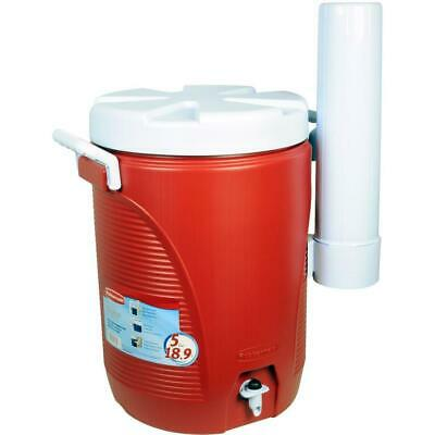 5 Gallon Plastic Water Beverage Cooler Cup Dispenser Screw L