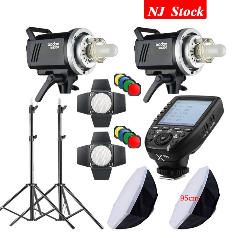 Godox MS300 Studio Strobe Head Flash Monolight XPro Transmitter For Nikon Fuji