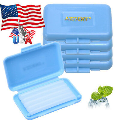 Us 20 Boxes Dental Orthodontics Wax For Braces Gum Irritation Blue Mint Scented