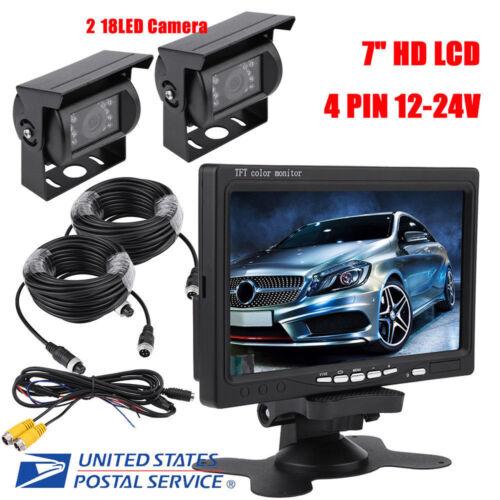 """7""""HD Waterproof LCD Vehicle Rear View Monitor Backup Camera"""
