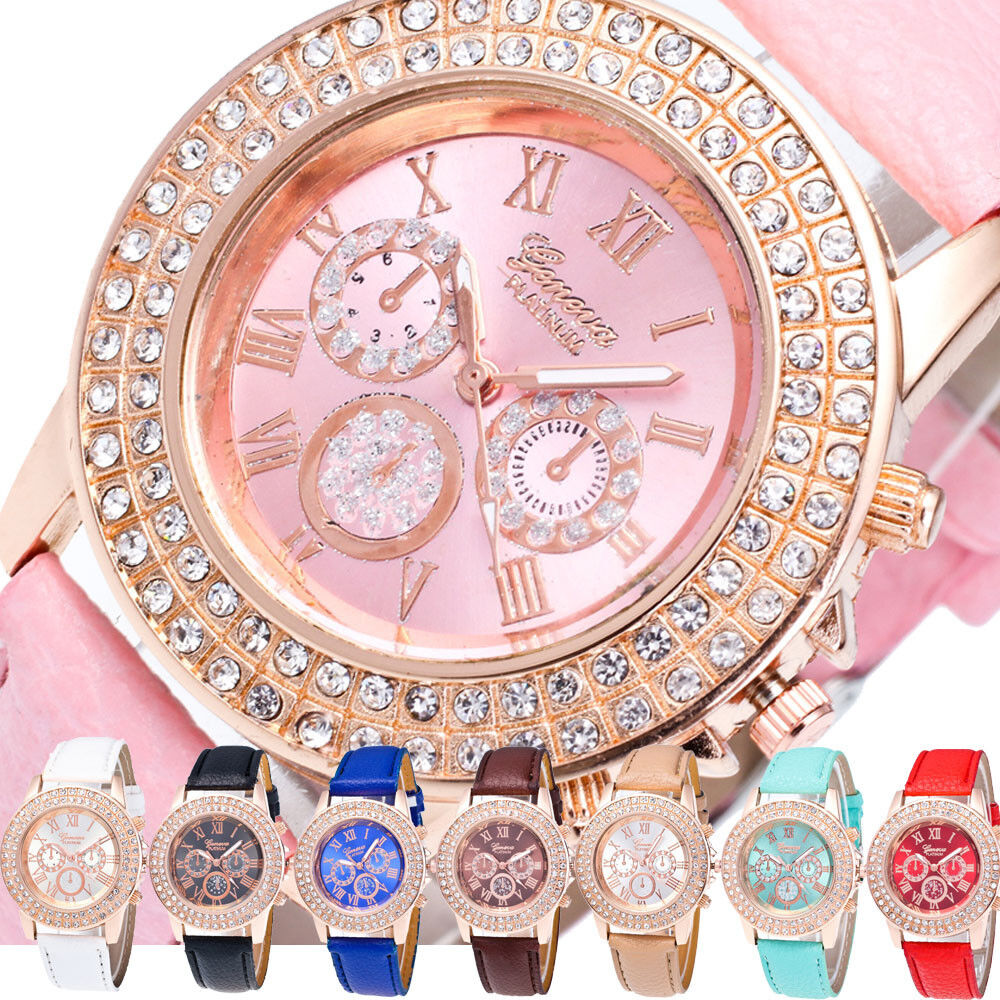 Women's Bracelet Stainless Steel Crystal Diamonds Analog Quartz Fashion Watches