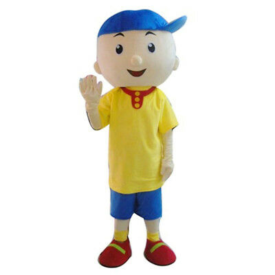 2019 Hot Deluxe EVA Caillou Cartoon Mascot Costume Suit Adults Party Fancy Dress - Caillou Costume