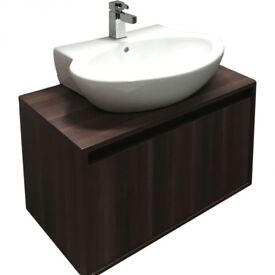 Bathroom One Drawer Wall Hung Unit with Counter Top Basin £199