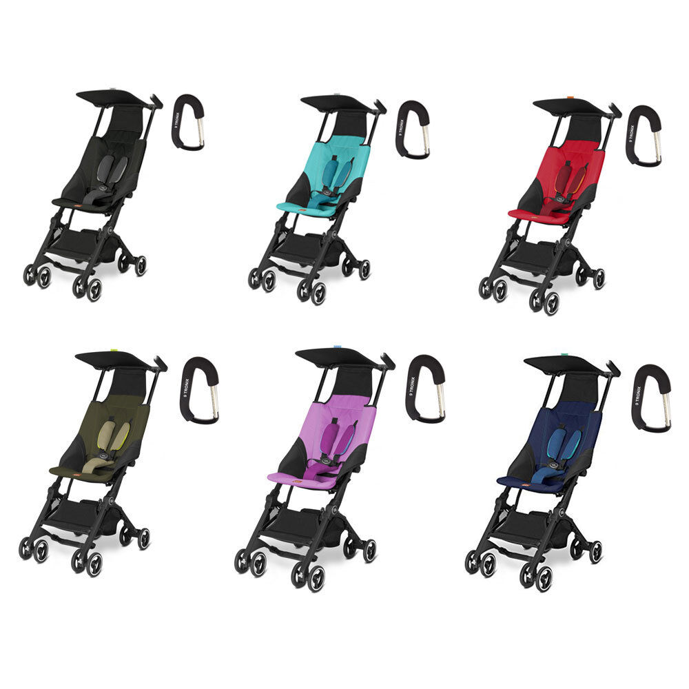 Купить GB Pockit Stroller W/Free Stroller Hook  - Black, Capri Blue, Red, Khaki, Navy