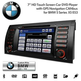 BMW 3 5 Series E46 E39 X5 Car Screen Audio Radio Stereo BT USB AUX GPS Navigator Car DVD Player