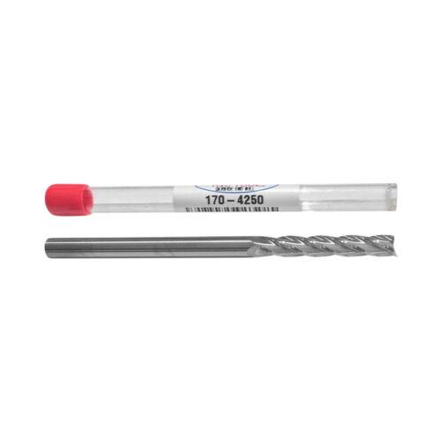 NEW-  1/4  dia  EXTRA LONG - 1.50 LOC - CARBIDE-  4 flute End mill USA  170-4250