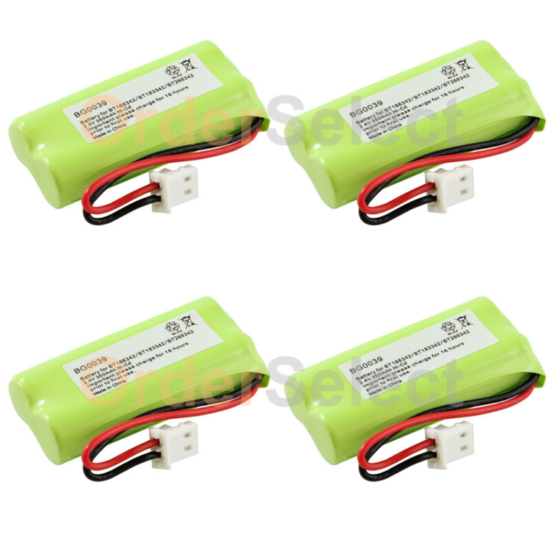 4 Rechargeable Home Phone Battery for AT&T BT166342 BT266342 TL32100 TL90070 HOT