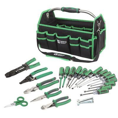 22-piece Commercial Electric Tool Set Screwdriver Electricians Starter Kit Bag