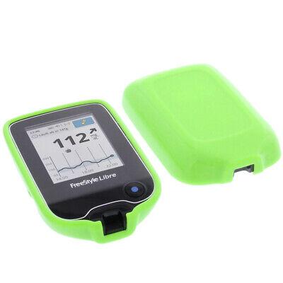 Hülle für Abbott Freestyle Libre 2 Tasche Schutz TPU Gummi Case Grün