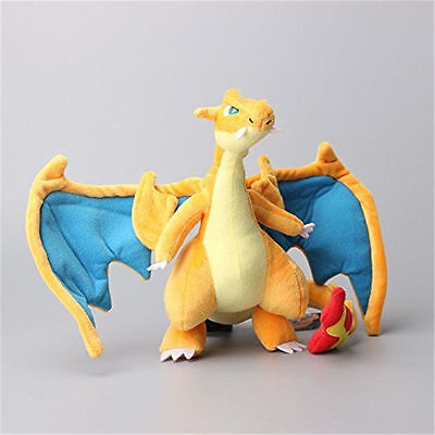Pokemon Mega Charizard Y Plush Doll Figure Stuffed Animal Toy 10 inch Gift
