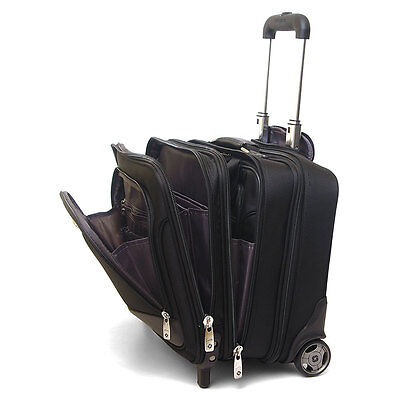 Samsonite Rolling Briefcase on Wheels Bonus Laptop Case 2-in-1 Overnight Bag New on Rummage