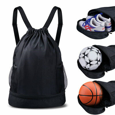 Gym Drawstring Bag SKL Sport Basketball Backpack Water Resistant Gymsack Yoga US