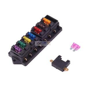 atc fuse block 12 24v car truck boat 8 way circuit standard blade fuse box holder block atc