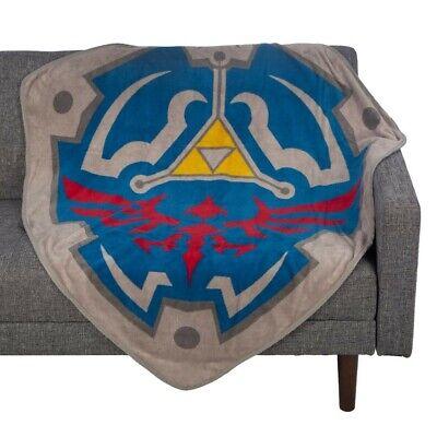 Official Zelda Fleece Shield Throw Blanket Official Throw Blanket