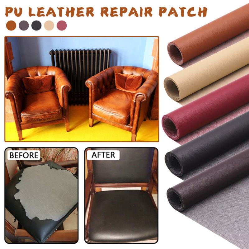 Leather Repair Patch Self-Adhesive Patch Tape Kit for Couch Furniture Sofas US Z