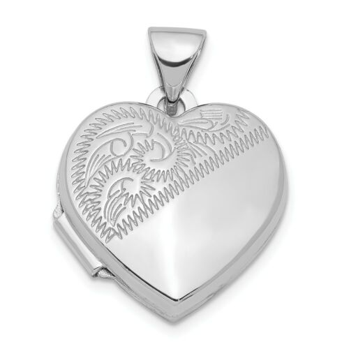 925 Sterling Silver Rhodium-plated Polished /& Textured CZ Heart Key Locket Charm Pendant