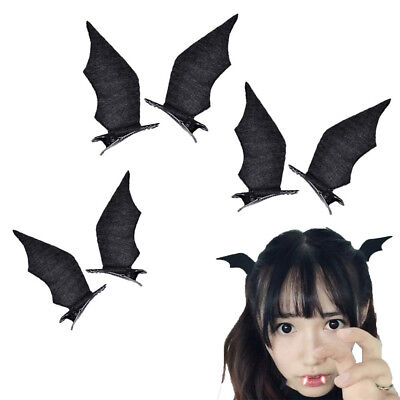 Halloween Devil Bat Wings Small Hair Clips Headbands Hairpins Hair - Bat Headband