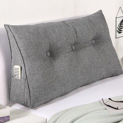 Keil Stützkissen (Rückenstützkissen Keilform Rückenlehne Rückenstütze Wendekissen für Bett & Sofa )