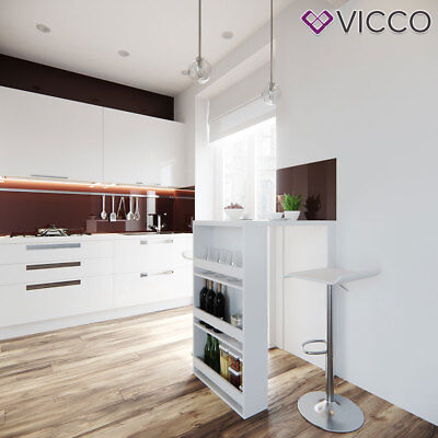 VICCO Bartisch Weiß Bartresen Stehtisch Tisch Tresentisch Bistrotisch Tresen Bar