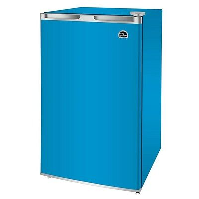Igloo 3.2 Cu Ft Mini Refrigerator/Compact Fridge, Blue - Perfect for Dorm Rooms