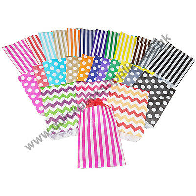 Striped / Polka Dot / Pattern Sweet Paper Candy Bags Sweets Wedding Gift Cake