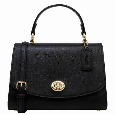 New Authentic Coach F76618 Tilly Top Handle Satchel Genuine Crossgrain Leather Coach Top Handle Leather