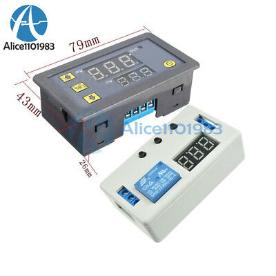 12v Led Automation Delay Cycle Timer Control Switch Dual Display Relay Module
