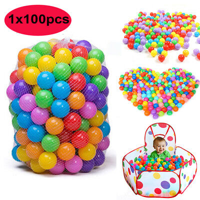 100pcs Colorful Ocean Ball Pit Pool Ball Soft Plastic Funny Baby Kids Swim Toys](Ballpit Balls)