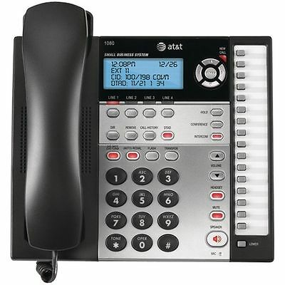 Att 1080 4 Line Office Business Intercom Paging Call Transfer Phone 1040 1080
