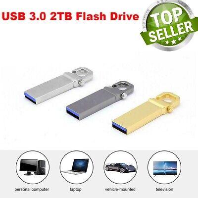 Metal USB 3.0 2TB Flash Drive Memory Stick Pen U Disk Swivel Key Thumb PC (Memory Key Usb Flash Drive)